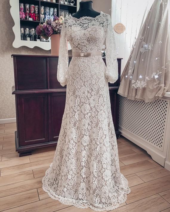 77a0d07d758 Свадебное платье Винтаж купить по цене 21900 руб. в Санкт-Петербурге ...