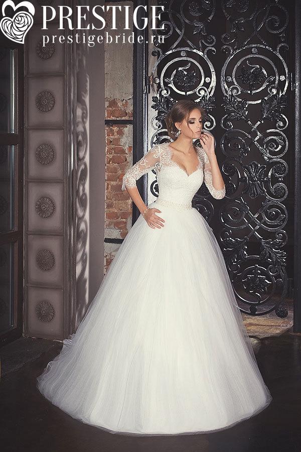Свадебные платья с рукавом