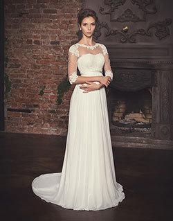 c967ea42127 Греческое свадебное платье или свадебное платье Ампир. Греческие свадебные  платья отличаются завышенной талией. За счет этого идеально подходят для  девушек ...